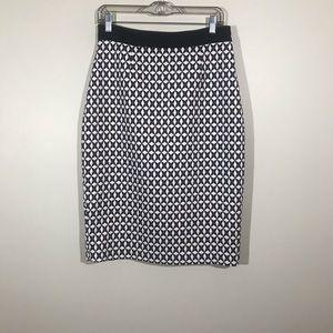 Banana Republic Pencil Skirt Faux Leather Trim